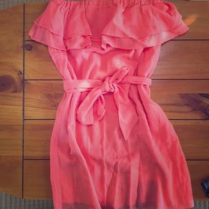 J Crew Strapless Dress- pink/coral. Size small.